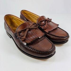 Allen Edmonds Nottingham Leather Loafers Men's 8 D